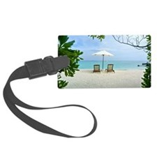 Beach Holiday Luggage Tag