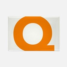 Letter Q Orange Magnets