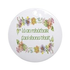 Happy Mother's Day (Floral) Ornament (Round)