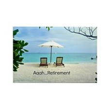 Aaah...Retirement, tropical beach Rectangle Magnet