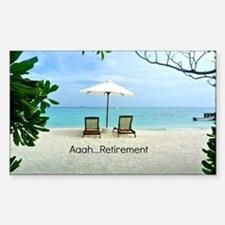 Aaah...Retirement, tropical be Sticker (Rectangle)