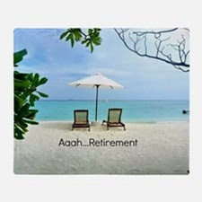 Aaah...Retirement, tropical beach sc Throw Blanket