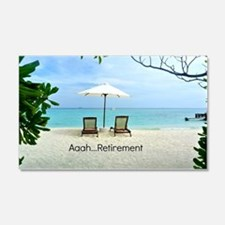 Aaah...Retirement, tropical beach Wall Decal
