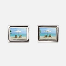 Aaah...Retirement, tropical beach scene Cufflinks