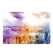Colorful Hongkong Postcards (Package of 8)