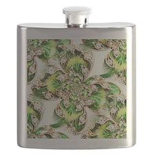 Four leaf Clover and Diamonds Flask