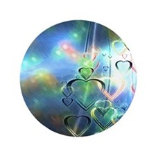 """Heart Rain 3.5"""" Button"""