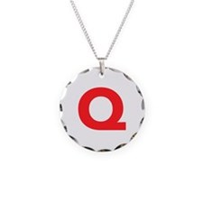 Letter Q Red Necklace