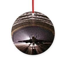 Airplan hangar Ornament (Round)