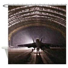 Airplan hangar Shower Curtain