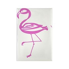 Flamingo  Rectangle Magnet