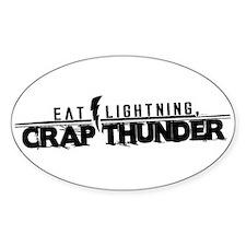 ELTRAV.COM Eat Lightning Oval Decal