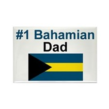 #1 Bahama Dad Rectangle Magnet