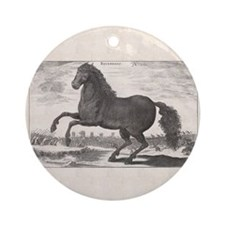 Alexander the Great's Horse Bucepha Round Ornament