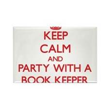 Keep Calm and Party With a Book Keeper Magnets