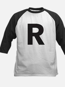 Letter R Black Baseball Jersey