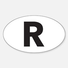Letter R Black Decal