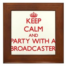Keep Calm and Party With a Broadcaster Framed Tile