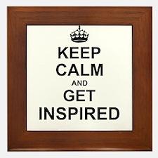 Keep Calm and Get Inspired Framed Tile