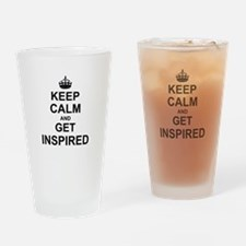 Keep Calm and Get Inspired Drinking Glass