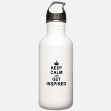 Keep Calm and Get Inspired Sports Water Bottle