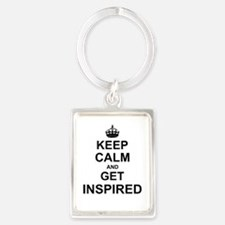 Keep Calm and Get Inspired Keychains