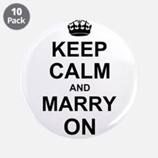 """Keep Calm and Marry on 3.5"""" Button (10 pack)"""