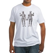 Athletic Muscle Men Anatomy Drawing Shirt
