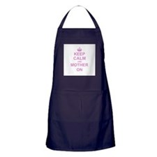 Keep Calm and Mother on Apron (dark)