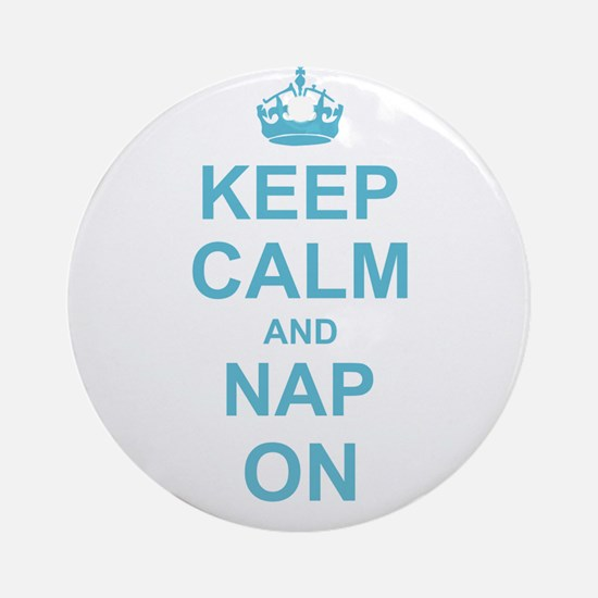 Keep Calm and Nap on Ornament (Round)