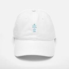 Keep Calm and Nap on Baseball Baseball Cap