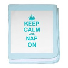 Keep Calm and Nap on baby blanket