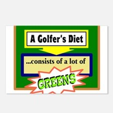 Golfers Diet/t-shirt Postcards (Package of 8)