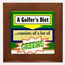 Golfers Diet/t-shirt Framed Tile