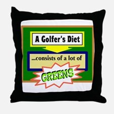 Golfers Diet/t-shirt Throw Pillow