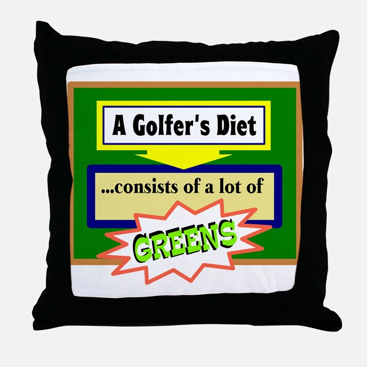 Golfers Diet/t-shirt Throw Pillow