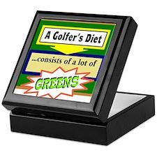 Golfers Diet/t-shirt Keepsake Box