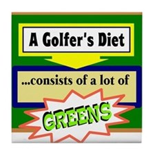 Golfers Diet/t-shirt Tile Coaster