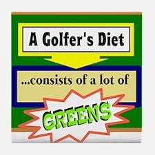 Golfers Diet/t-shirt Tile Coaster