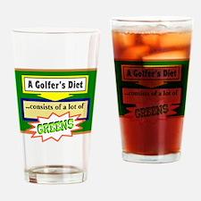 Golfers Diet/t-shirt Drinking Glass