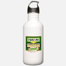 Golfers Diet/t-shirt Water Bottle