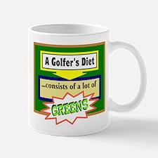 Golfers Diet/t-shirt Mugs