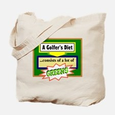 Golfers Diet/t-shirt Tote Bag