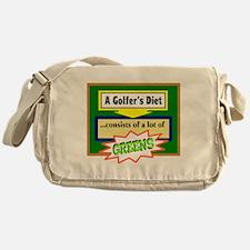 Golfers Diet/t-shirt Messenger Bag