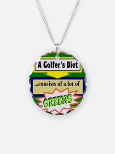 Golfers Diet/t-shirt Necklace