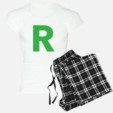 Letter R Green Pajamas