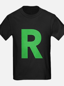 Letter R Green T-Shirt