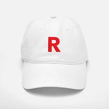 Letter R Red Baseball Baseball Baseball Cap
