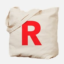 Letter R Red Tote Bag