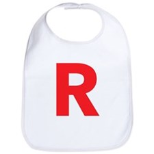 Letter R Red Bib